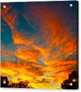Front Yard Sunset Acrylic Print