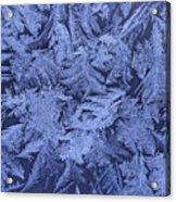 Frost On A Window Acrylic Print