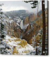 Frosted Canyon Acrylic Print
