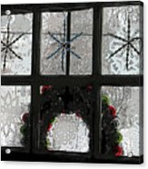 Frosted Windowpanes Acrylic Print