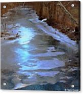 Frosting The Jordan Acrylic Print