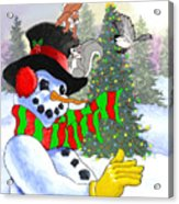 Frosty And Friends Acrylic Print