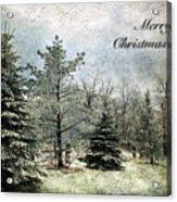 Frosty Christmas Card Acrylic Print