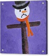 Frosty Cross Acrylic Print