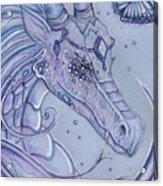 Frosty Dragon Acrylic Print