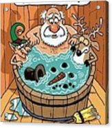 Frosty In A Hot Tub Acrylic Print