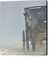 Frosty Morning In Amishland Acrylic Print