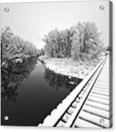 Frosty Morning On The Poudre Acrylic Print