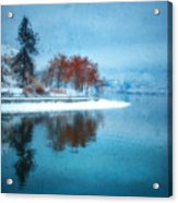 Frosty Reflection Acrylic Print