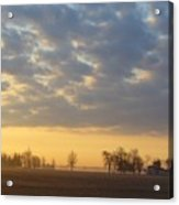 Frosty Spring Sunrise Acrylic Print by Peggy King