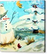 Frosty The Snow Man Acrylic Print