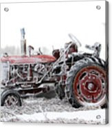 Frosty Tractor Acrylic Print