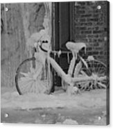 Frozen Bike Acrylic Print