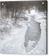Frozen Brook Acrylic Print