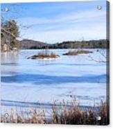Frozen Bryant Pond Acrylic Print