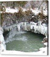 Frozen Cave Point Acrylic Print