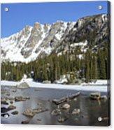 Frozen Colorado Lake Acrylic Print