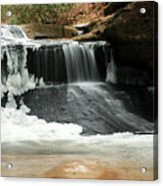 Frozen Creation Falls Acrylic Print