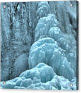 Frozen Falls Along The Icefields Parkway Acrylic Print