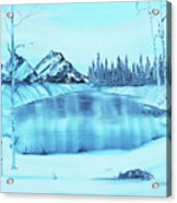 Frozen Lake Acrylic Print