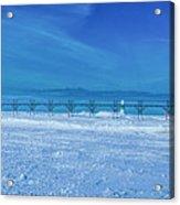 Frozen Lake Michgan At Grand Haven Acrylic Print