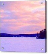 Frozen Lake Sunset 2  Acrylic Print