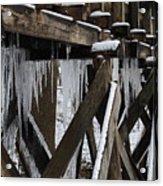 Frozen Leaks Acrylic Print