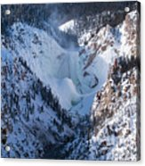 Frozen Lower Falls Acrylic Print