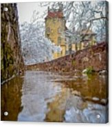 Frozen Moat At Fonthill Acrylic Print