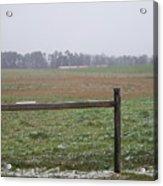 Frozen Rainy Field Acrylic Print by Kevin Croitz