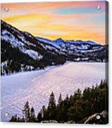 Frozen Reflections At Echo Lake Acrylic Print