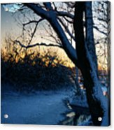 Frozen River Acrylic Print