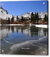 Frozen Sierra Lake Acrylic Print