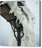 Frozen St. Joseph Outer Lighthouse Acrylic Print