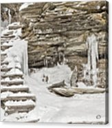 Frozen Stairs Acrylic Print