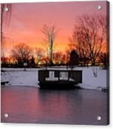 Frozen Sunrise Acrylic Print