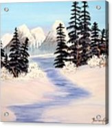 Frozen Tranquility Acrylic Print