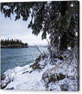 Frozen View Of Ellingson Island Acrylic Print