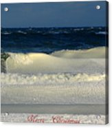 Frozen Waves Christmas Card Acrylic Print