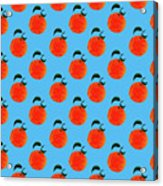 Fruit 01_orange_pattern Acrylic Print