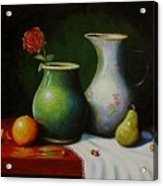 Fruit And Pots. Acrylic Print