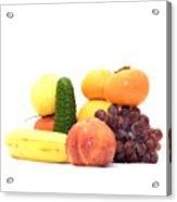 Fruit And Vegetables Ansamble Acrylic Print
