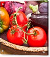 Fruit And Vegetables Acrylic Print