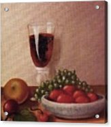 Fruit  And  Wine   A Acrylic Print by Helen Thomas