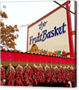 Fruit Basket Stand Acrylic Print