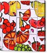 Fruit Fractals Acrylic Print