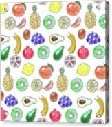 Fruit Pattern  Acrylic Print