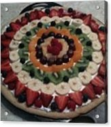 Fruit Pizza Acrylic Print