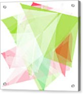 Fruit Polygon Pattern Acrylic Print