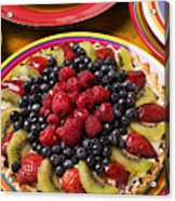Fruit Tart Pie Acrylic Print